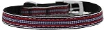 Preppy Stripes Nylon Dog Collar with classic buckles 3/8