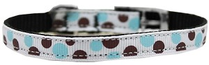 Confetti Dots Nylon Dog Collar with classic buckle 3/8