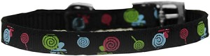Lollipops Nylon Dog Collar with classic buckle 3/8