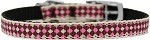 Pink Checkers Nylon Dog Collar with classic buckle 3/8