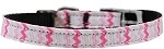 Sweet Chevrons Nylon Dog Collar with classic buckle 3/8