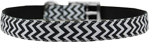 Chevrons Nylon Dog Collar with classic buckle 3/4