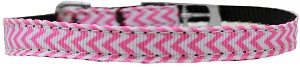 Chevrons Nylon Dog Collar with classic buckle 3/8
