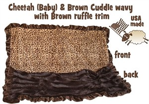 Brown Cheetah Jumbo Size Pet Blanket