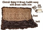 Brown Cheetah 1/2 Size  Pet Blanket