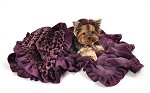 Purple Cheetah 1/2 Size  Pet Blanket