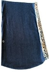 Puppy Holdem Sling Denim w/ Cheetah Trim Size Small