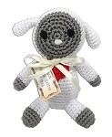 Knit Knacks Fleece the Lamb Organic Cotton Small Dog Toy