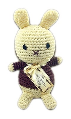 Knit Knacks Foo Foo Bunny Organic Cotton Small Dog Toy