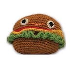 Knit Knacks Hamburger Organic Cotton Small Dog Toy