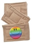 Peter Pads Tan Size XS Happy Face 3 Pack