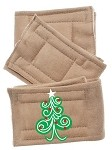 Peter Pads Tan Size XS Swirly Christmas Tree 3 Pack