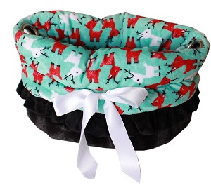 Reindeer Folly Reversible Snuggle Bugs Pet Bed, Bag, and Car Seat All-in-One