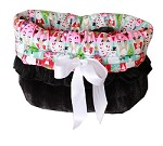 Christmas Medley Reversible Snuggle Bugs Pet Bed, Bag, and Car Seat All-in-One
