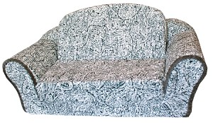 Boho Grey Pull Out Pet Sleeper Sofa Bed