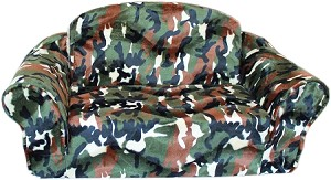 Green Camo Pull Out Pet Sleeper Sofa Bed