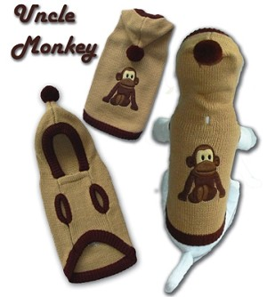 Uncle Monkey Pet Sweater Size 2X