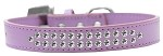 Two Row Clear Crystal Size 12 Lavender Dog Collar