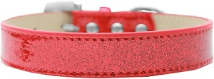 Lincoln Plain Ice Cream Dog Collar Red Size 20