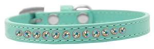 AB Crystal Size 8 Aqua Puppy Collar