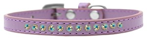 AB Crystal Size 8 Lavender Puppy Collar