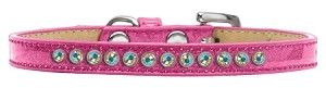 AB Crystal Size 8 Pink Puppy Ice Cream Collar