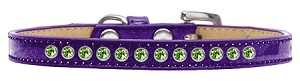 Lime Green Crystal Size 14 Purple Puppy Ice Cream Collar
