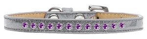 Purple Crystal Size 12 Silver Puppy Ice Cream Collar
