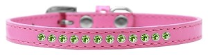 Lime Green Crystal Size 8 Bright Pink Puppy Collar