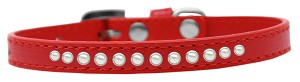 Pearl Size 8 Red Puppy Collar