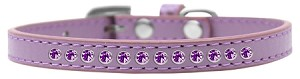 Purple Crystal Size 8 Lavender Puppy Collar