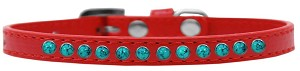 Southwest Turquoise Pearl Size 10 Red Puppy Collar