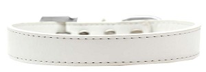Tulsa Plain Dog Collar White Size 14