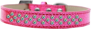 Sprinkles Ice Cream Dog Collar AB Crystals Size 18 Pink
