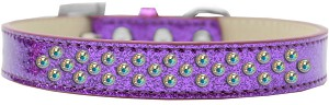 Sprinkles Ice Cream Dog Collar AB Crystals Size 16 Purple
