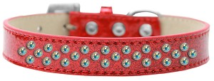 Sprinkles Ice Cream Dog Collar AB Crystals Size 14 Red
