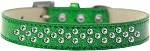 Sprinkles Ice Cream Dog Collar Clear Crystals Size 12 Emerald Green