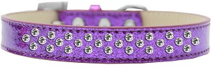 Sprinkles Ice Cream Dog Collar Clear Crystals Size 16 Purple