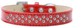 Sprinkles Ice Cream Dog Collar Clear Crystals Size 18 Red