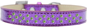 Sprinkles Ice Cream Dog Collar Lime Green Crystals Size 18 Purple