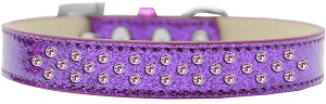 Sprinkles Ice Cream Dog Collar Light Pink Crystals Size 18 Purple