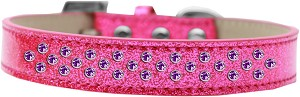 Sprinkles Ice Cream Dog Collar Purple Crystals Size 16 Pink