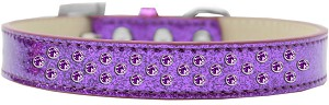 Sprinkles Ice Cream Dog Collar Purple Crystals Size 18 Purple