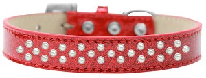 Sprinkles Ice Cream Dog Collar Pearls Size 18 Red