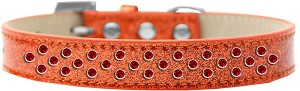 Sprinkles Ice Cream Dog Collar Red Crystals Size 12 Orange
