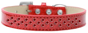 Sprinkles Ice Cream Dog Collar Red Crystals Size 14 Red