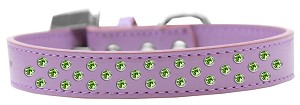 Sprinkles Dog Collar Lime Green Crystals Size 18 Lavender