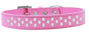 Sprinkles Dog Collar Pearls Size 12 Bright Pink