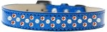 Sprinkles Ice Cream Dog Collar Pearl and Orange Crystals Size 12 Blue