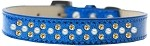 Sprinkles Ice Cream Dog Collar Pearl and Yellow Crystals Size 12 Blue